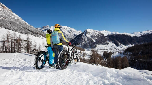 Livigno d'inverno - Fat Bike, winter mountain biking