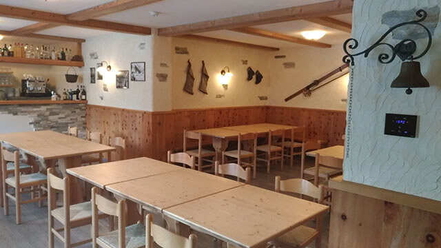 The tavern of Baita Cusini in Livigno